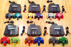 Nintendo 64 N64 + 2 Genuine Controllers (TIGHT STICKS) + Cords + FREE GAME!