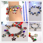 christmas bracelet charm charms traditional enamel stocking filler gift bangle