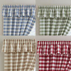 Chamonix Pelmet Valance With Checked Design In Blue, Green, Natural, Red