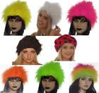 FAUX FUR FLUFFY HAT 80'S FANCY DRESS