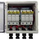 PV Solar 3-String DC Combiner Box with 6 fuses - Pre-wired