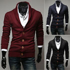 NEW Men Winter Slim Fit Button Cotton Knit V-Neck Casual Cardigan Jumper Sweater
