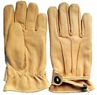 Quality Genuine Thinsulate™ sheepskin leather gloves Draw string wrist fastener