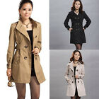 Fashion Women Lady Long windbreaker Trench Coat Jacket Slim Bodycon Outwear 2015