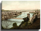 Canvas Print Wall Art Picture Inverness from castle, Scotland