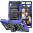 For HTC Desire Eye Rugged Armor Hybrid Dual Layer TPU + PC Kick Stand Case Cover