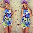 Sexy Women Lady Flounced Sleeveless Bodycon Jumpsuit Romper Trousers Short Pant