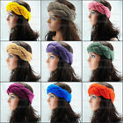 HOT colourhandmade headwrap knit headband crochet headwear hair ear warmer