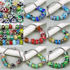 10x Mix Color Lampwork Glass Charms Loose European Bead For Bracelet Jewelry DIY