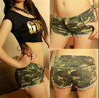 Fashion Women's Camouflage Jeans Shorts  Denim Low Waist Shorts CALO