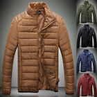 2015 SALE Men Cold WINTER WARM Stand Collar Padded Coat Quilted Jacket Outerwear