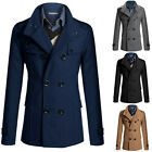 Stylish Men's Long Business WINTER WARM Coat Jackets Outerwear Parka Overcoat