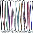 Rhinestone Lanyard Neck Strap ID Card Badge Mobile Phone Camera Key Pass Holder
