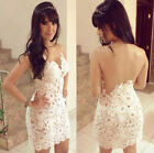 2015 NEW Women's Fashion Strapless Lace Short Party Clubwear Pub Dresses S~XL