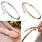 Fashion Silver Gold Spike Taper Nail Twisted Buckle Charms Women Bangle Bracelet