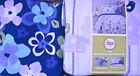 Circo Duvet Set Birdhouse Blossom Cotton Blue Lilac Twin or Full New Shams Bed