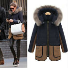 Women Trench Parka Silk Wadding Winter Detachable Hooded Padded Down Coat Jacket