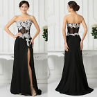 Sexy Black Cocktail Dress Party Formal Evening Ball Prom Dresses Wedding Gown Q1