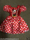 New Disney Minnie Mouse girls red fancy dress outfit dressing up costume