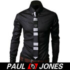 POPULAR New Mens Slim Fit Long Sleeve Stylish Casual Shirts Formal Dress Shirts