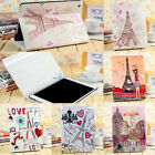 Paris Style Flip PU Leather Smart Cover Case Stand For iPad 2 3 4 5 5TH Air Mini