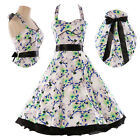 Vintage 50s Dress Rockabilly Swing Pinup Retro Prom Party evening dresses Cotton