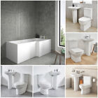 1670 Right Hand L Shaped Shower Bath Panel Screen 2 Piece Modern Bathroom Suite