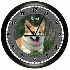 PEMBROKE WELSH CORGI WALL CLOCK PERSONALIZED GIFT DOG PET VET NAME