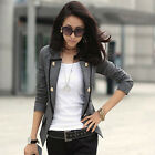 Awesome Woman's Slim Fit Blazer Jacket Long Sleeve Casual Suit Coat Outerwear