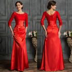 2015 POP~ Lace Sexy Mermaid Long Mother Of The Bride Wedding Evening Party Dress