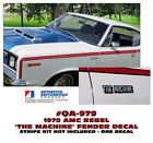 QA-979 1970 AMC - AMERICAN MOTORS - REBEL - THE MACHINE - FENDER DECAL