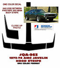 QA-963 1972-74 AMC - AMERICAN MOTORS - JAVELIN - HOOD STRIPE - ONE COLOR DECAL