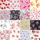 ROSES Fabric- 100% COTTON vintage FLORAL MATERIAL by the metre Fat Quarter
