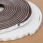 5M Window Doors Self Adhesive Draught Excluder Brush Pile Seal Strip Waterproof