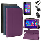 Leather Stand Case+AC+Car Charger+Cable+LCD For Toshiba Encore Mini WT7-C16/C32