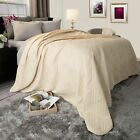 Solid Color Quilted Lightweight Blanket Comforter Choice of Colors -Twin