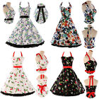 US Ladies New Vtg 1950s 50s Style Retro Pinup Rockabilly Party Prom Swing Dress