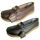 Babe Womens 5205 Leather Moccasin Slip On Casual Shoe