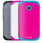 Colorful Rubberized Hard Protective Case Cover Skin For Motorola Moto E Phone