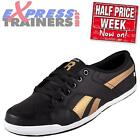 Reebok Womens Girls Rhythmcity Casual Fitness Leather Trainers Black *AUTHENTIC*