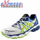 Asics Mens Gel Pulse 6 Premium Running Shoes Trainers White New 2015 *AUTHENTIC*