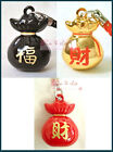 Various Color Money Bag Pouch Bell Cell Phone Charm Strap for Lucky 0.9 in.