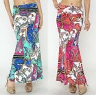 New *YETTS* Women's paisely printed maxi skirt w/fold over waist S,M,L