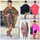 Ladies Sheer Convertible Summer Poncho Cover Up Multi Wear Top XS S M L XL 1X 2X