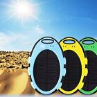 5000mAh Solar Energy Power Bank + USB Cable + Hang Buckle for Cell Phone colors