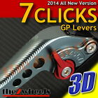 7 CLICKS 3D GP Levers Adjustable Aprilia RSV4 /FACTORY 2009-2015