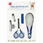 Baby Grooming Set Includes Scissors, Brush, Nail Clippers & Holder Girl Boy