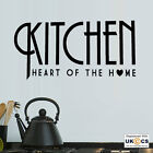 Kitchen Heart Of The Home Wall Art Stickers Decals Vinyl Decor Mural Quote