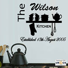 Personalised Family Kitchen Wall Art Stickers Decal Vinyl Decor Quote Room Mural
