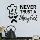 Skinny Cook Kitchen Wall Art Stickers Decals Vinyl Decor Mural Quote Room
